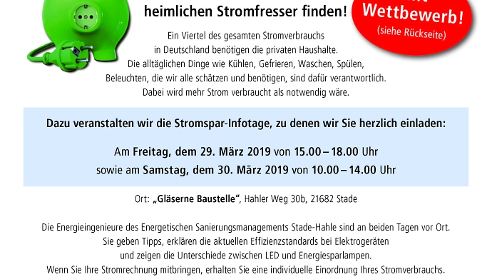 Flyer Stromspartage Hahle
